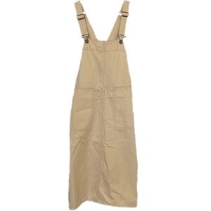 ZARA cream overall skirt